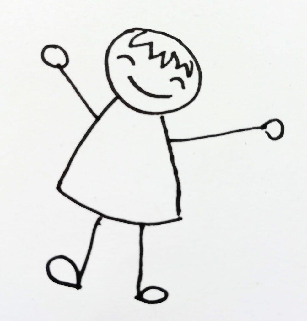 Kind freut sich (gezeichnet)